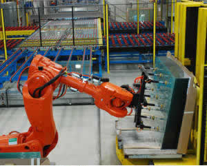 image of QComp Glass Racking Robotics for End of Line