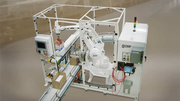 QComp Robotic Case Packer system image