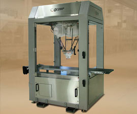 image of QComp robotic pouch packer with ABB flexpicker