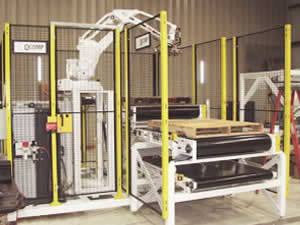 image of QComp robotic palletizers
